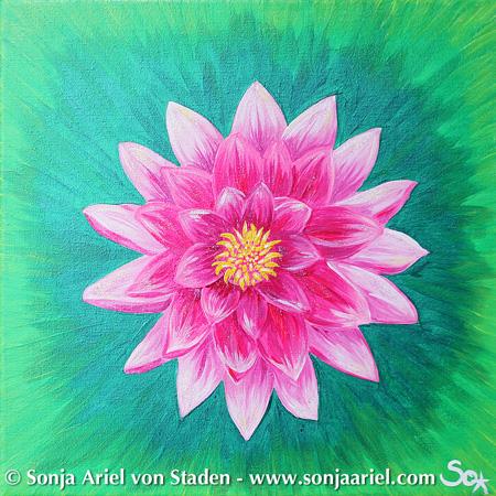 Kraftbild: Leuchtender Lotus grün