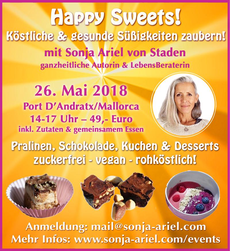 "Rohkkost-Workshop ""Happy Sweets"" @ Port D'Andratx | Port d'Andratx | Illes Balears | Spanien"